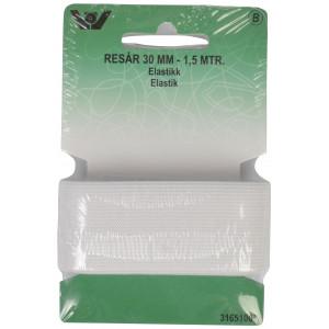 Elastik/Elastikbånd Hvid 30mm 1,5m