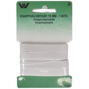 Image of   Hul Elastik Hvid 18mm 1m