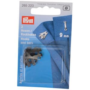 Prym Buksehægter Sølv 9,5mm - 3 stk