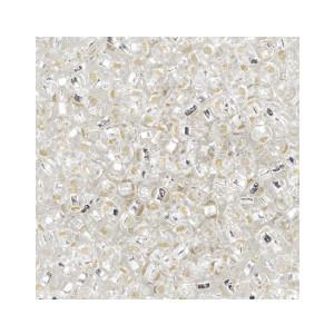 Du Store Alpakka Rocaiperler 6/0 Blank med Sølvkjerne - 50 gram