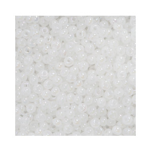 Du Store Alpakka Rocaiperler 6/0 Hvit Melert - 50 gram