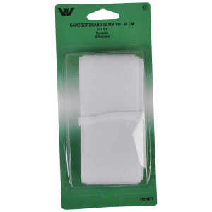 Velcro/Gribebånd til påsyning Hvid 50mm 0,5m