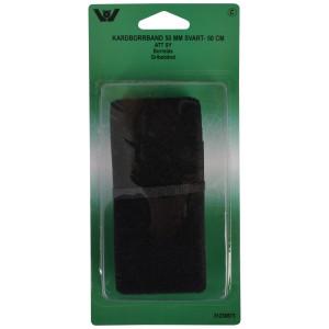 Velcro/Gribebånd til påsyning Sort 50mm 0,5m