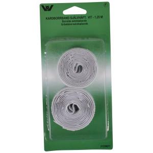 Velcro/Gribebånd Selvklæbende Hvid 20mm 1,25m