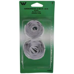Velcro/Gribebånd Rondeller Selvklæbende Hvid 20mm - 50 stk