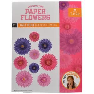 Lav selv Papirblomster Pink/Lilla