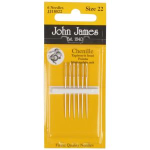 John James Stramajnåle med Spids Str. 22 - 6 stk