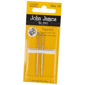 John James Stramajnåle uden Spids Str. 14 - 2 stk
