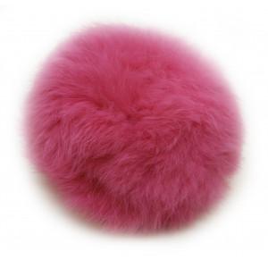 Image of   Pompon Kvast Kaninhår Pink 100 mm