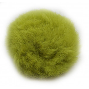 Image of   Pompon Kvast Kaninhår Lime 100 mm
