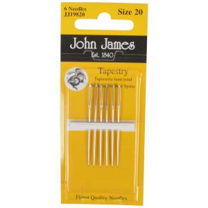John James Stramajnåle uden Spids Str. 20 - 6 stk
