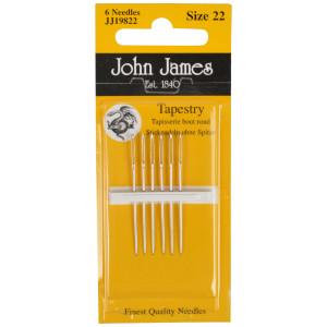 John James Stramajnåle uden Spids Str. 22 - 6 stk