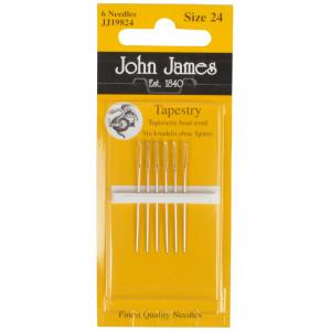 John James Stramajnåle uden Spids Str. 24 - 6 stk
