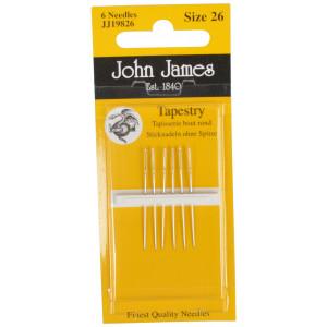 John James Stramajnåle uden Spids Str. 26 - 6 stk