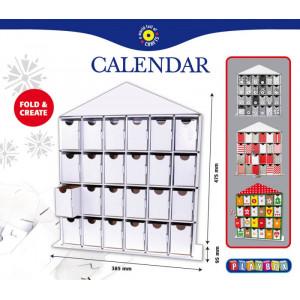 Playbox Design selv Pakkekalender/Julekalender 38,5x47,5x9,5cm
