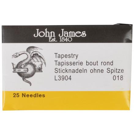 Image of   John James Stramajnåle uden Spids Str. 18 - 25 stk