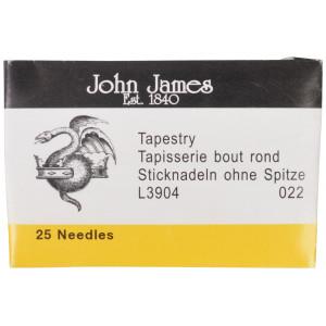 Image of   John James Stramajnåle uden Spids Str. 22 - 25 stk