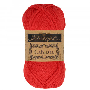 Image of   Scheepjes Cahlista Garn Unicolor 115 Hot Red