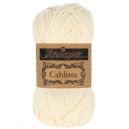 Image of   Scheepjes Cahlista Garn Unicolor 130 Old Lace
