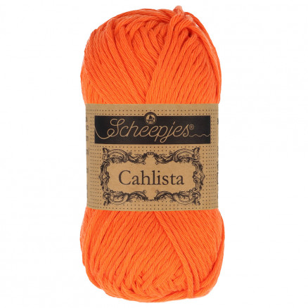 Image of   Scheepjes Cahlista Garn Unicolor 189 Royal Orange