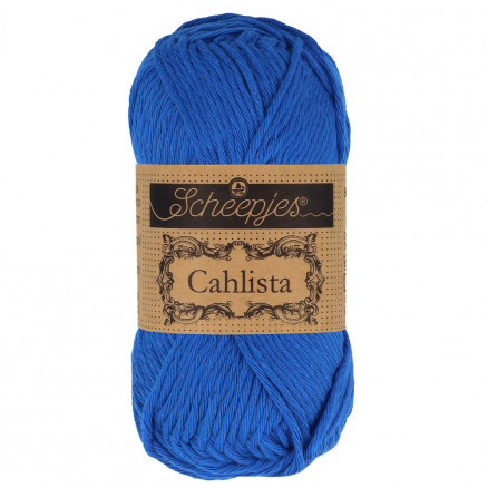 Image of   Scheepjes Cahlista Garn Unicolor 201 Electric Blue