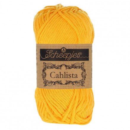 Image of   Scheepjes Cahlista Garn Unicolor 208 Yellow Gold