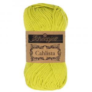 Image of   Scheepjes Cahlista Garn Unicolor 245 Green Yellow