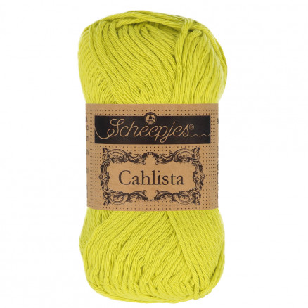 Image of   Scheepjes Cahlista Garn Unicolor 245 Green Yellow