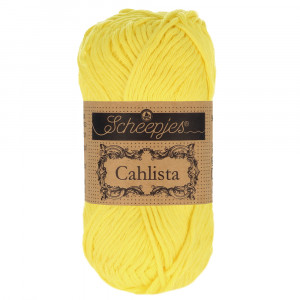 Image of   Scheepjes Cahlista Garn Unicolor 280 Lemon
