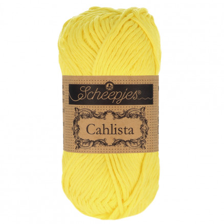 Image of   Scheepjes Cahlista Garn Unicolor 280 Lemon