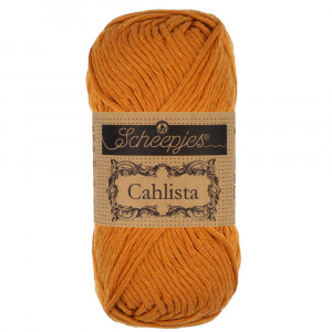 Image of   Scheepjes Cahlista Garn Unicolor 383 Ginger Gold