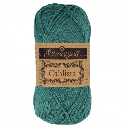 Image of   Scheepjes Cahlista Garn Unicolor 391 Deep Ocean Green