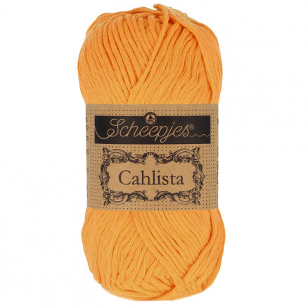 Image of   Scheepjes Cahlista Garn Unicolor 411 Sweet Orange