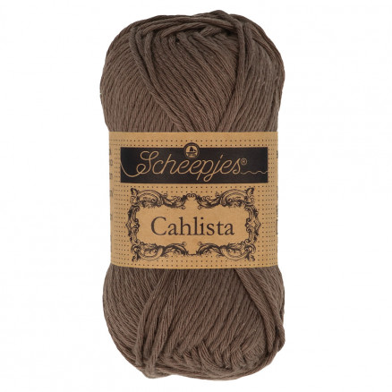 Image of   Scheepjes Cahlista Garn Unicolor 507 Chocolate