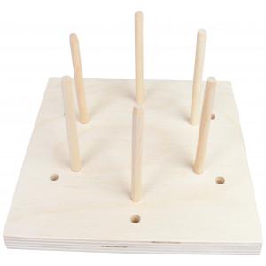 Blocking Board i Træ 6 huller 15x15x1,5cm