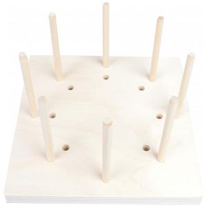 Blocking Board i Træ 8 huller 15x15x1,5cm