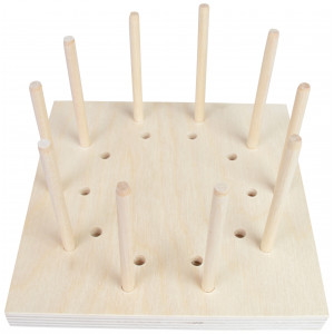 Blocking Board i Træ 10 huller 15x15x1,5cm