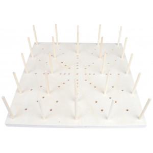 Blocking Board i Træ 89 huller 35x35x1,5cm