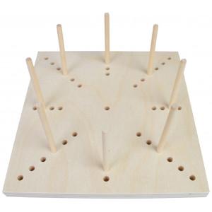 Blocking Board i Træ 41 huller 20x20x1,5cm