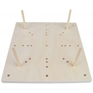 Blocking Board i Træ 16 huller 25x25x1,5cm