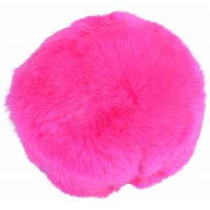 Image of   Infinity Hearts Pompon Kvast Rex Kaninhår Pink 100mm
