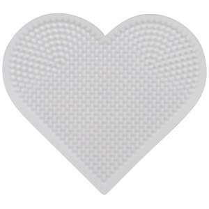 Hama Mini Perleplade 591 Hjerte Hvid - 1 stk