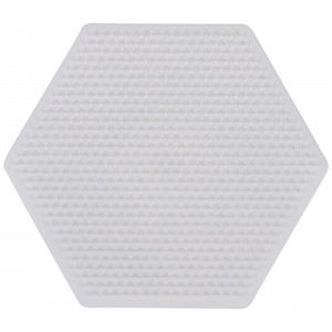 Image of   Hama Mini Perleplade 594 Sekskant Hvid - 1 stk