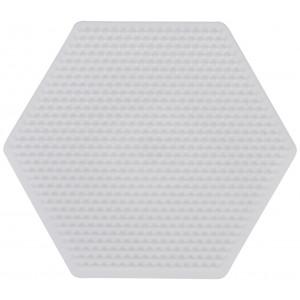 Hama Mini Perleplade 594 Sekskant Hvid 8,8x9cm - 1 stk