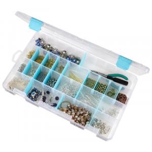 ArtBin Plastboks til knapper og tilbehør Transparent 36x23x5cm