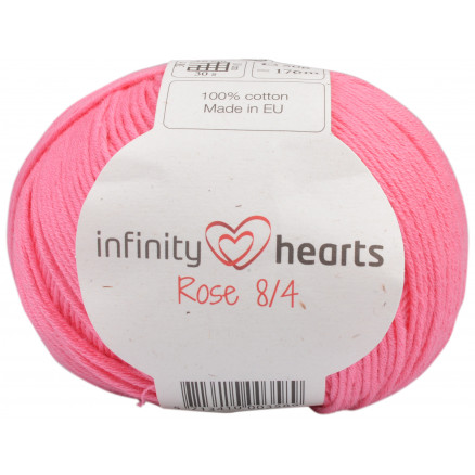 Image of   Infinity Hearts Rose 8/4 Garn Unicolor 33 Rosa