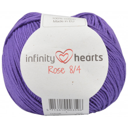 Image of   Infinity Hearts Rose 8/4 Garn Unicolor 56 Mørk Lilla