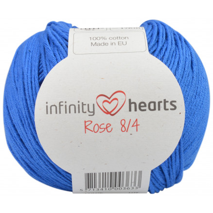 Image of   Infinity Hearts Rose 8/4 Garn Unicolor 101 Koboltblå