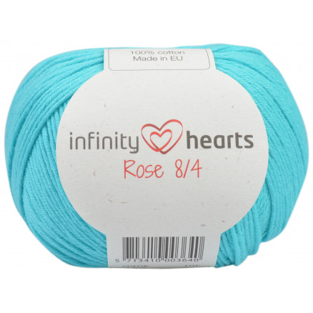 Image of   Infinity Hearts Rose 8/4 Garn Unicolor 130 Lys Turkis