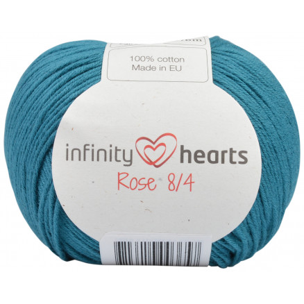 Image of   Infinity Hearts Rose 8/4 Garn Unicolor 132 Petrol
